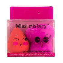 Kit de Esponjas Para Limpeza Facial e Maquiagem Gota Miss Mistery -