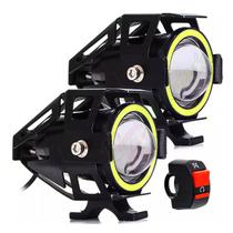 Kit De Faróis Milha Led Resistente A Água Para Moto Lk-u7 - Luatek