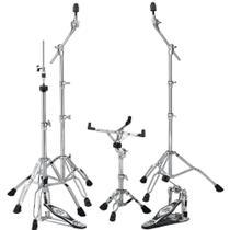 Kit de Ferragens Tama HB5W com Pedal e Chimbal Iron Cobra 200 + 2 Girafas e Estante de Caixa -