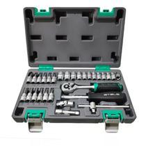 Kit de ferramenta 1/4 crv caixa plastica 29 pecas stels -