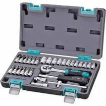 Kit de Ferramentas 1/4 POL,CRV,Caixa Plastica 29 PÇS 14100 STELS -