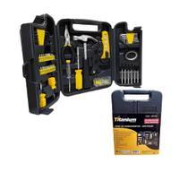 Kit de ferramentas 200 peças com maleta profissional 5456 titanium -