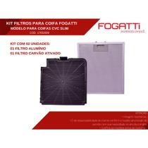 Kit de Filtros Alumínio + Carvão para Coifa Fogatti Modelo CVC Slim -