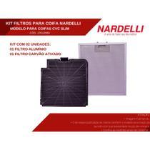 Kit de Filtros Alumínio + Carvão para Coifa Nardelli Modelo CVC Slim -