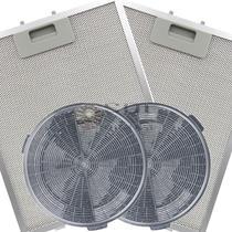 Kit de Filtros Metálico + Carvão para Coifa Electrolux 60CT -