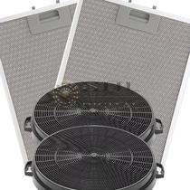 Kit De Filtros Metálico + Carvão Para Coifa Electrolux 60cx -