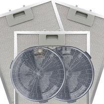 Kit de Filtros Metálico + Carvão para Coifa Electrolux 90CT -