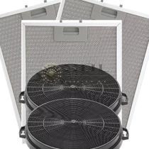 Kit De Filtros Metálico + Carvão Para Coifas Electrolux 90cx -