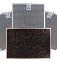 Kit De Filtros Metálico + Carvão Para Coifas Electrolux Home Pro 90FS -