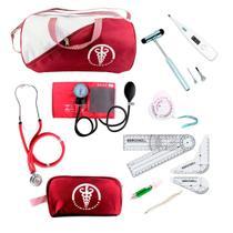 Kit De Fisioterapia Premium Goniometro Martelo Buck Canetas -