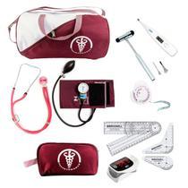 Kit De Fisioterapia PREMIUM / PA MED Com Goniometro Martelo Buck Oximetro - Broonell