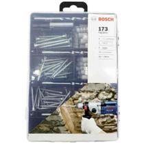 Kit de fixacao com brocas bits parafusos e buchas 173 pecas bosch 2607017506 -