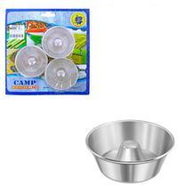 Kit De Forma Mini Para Pudim De Alumínio Com 3 Peças N1 - Fmsp
