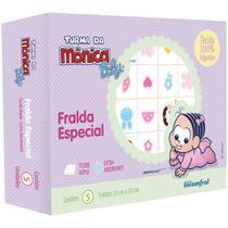 Kit de Fralda Especial Estampada 5 unidades Turma da Monica Baby Monica e Magali -