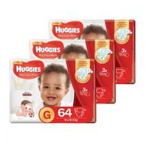 Kit de Fraldas Hiper Supreme Care G 192 Unidades Huggies -