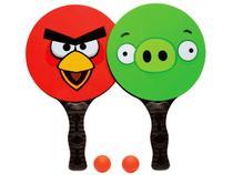 Kit de Frescobol Angry Birds  - com 2 Raquetes e 2 Bolas - DTC