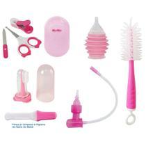 Kit de Higiene e Cuidados para Bebês Saúde Rosa - Kitstar -