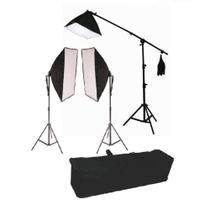 Kit de Iluminação Greika PK-SB03 Retangular 50x70cm com Lâmpada 45w e Girafa 40x40cm 135w 110v -