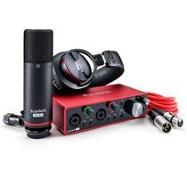 Kit de Interface de Áudio USB Focusrite Scarlett 2i2 Studio Pack 3ª Geração -
