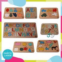 Kit de jogos pedagógicos tabuleiro - M Artesanato
