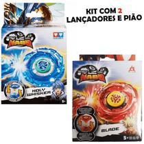 Kit de Lançadores e Pião Infinity Nado Whisker Blade Candide -