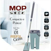 Kit De Limpeza Com Esfregão E Balde De Plastico Compacto - Amigold -
