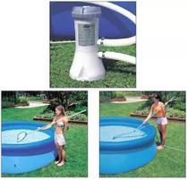 Kit de Limpeza Intex com Aspirador e Peneira + Bomba Filtrante Intex 3785 LH 220v -