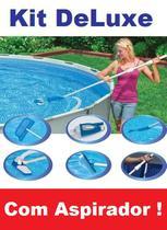 Kit de Limpeza Intex DELUXE com Aspirador Peneira Escova Cabo 28003 -
