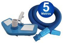 Kit De Limpeza Para Piscina Mangueira + Aspirador - 5 Metros - Sos Da Piscina