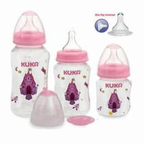 Kit de Mamadeira Big Natural rosa Kuka -