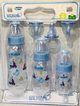Kit de mamadeira kuka universal azul -