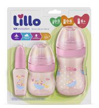 Kit de Mamadeira Primeiros Passos 50/150/240ml Rosa - Lillo -