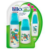 Kit de Mamadeiras Evolução Divertida Azul 3 Unidades - Lillo -
