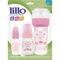 Kit De Mamadeiras Lillo Primeiros Passos Com 3 Unidades Rosa -