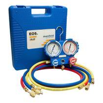 Kit de Manifold Profissional EOS com Mangueira de 1,5m para R22/R134A/407com404A e Maleta - -