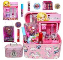 Kit de maquiagem infantil com maleta - Discoteen PD1 - Poder Da Make