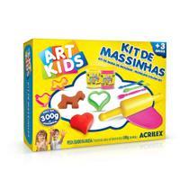 Kit de Massinhas 3 - 300g - C/ 11 Peças - Acrilex -