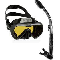 Kit de Mergulho Máscara+Respirador Cressi A1 Anti Fog + Supernova Dry -