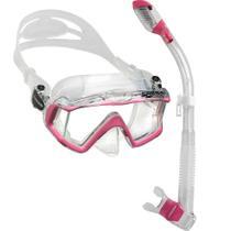 Kit de Mergulho Máscara+Respirador Cressi Pano 3 + Supernova Dry -