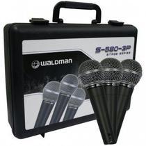 Kit de Microfones + Cachimbos S580 3P Preto Waldman -