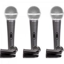 Kit de Microfones com 3 Supercardioide LCM1800 LEXSEN -