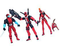 Kit De Miniaturas Bonecos Estatuetas Deadpool Marvel Xmen -