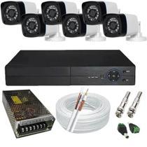 Kit De Monitoramento 6 Câmeras Infravermelho Dvr 8 Canais - citrox