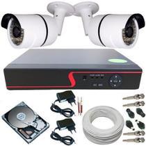 Kit de Monitoramento Residencial e Comercial 2 Câmeras Digitais Infravermelho + DVR 4 Canais - Protec