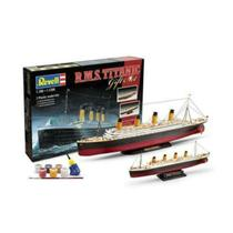 Kit de Montar Gift Set 2 Navios Rms Titanic 1:700 - 1:1200 Revell -