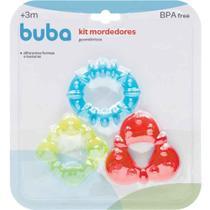 Kit de Mordedores com Água Geométricos - Buba -
