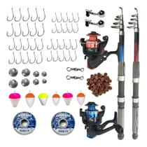 Kit De Pesca Pescaria Completa 2 Vara 2 Molinete E Itens - Cmik