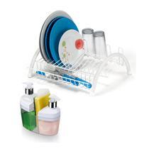 Kit de Pia Escorredor de Louças e Porta Detergente 3em1 Bco - Arthi