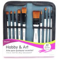 Kit de Pincéis Sinoart Hobby & Art 10 Unidades -