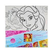 Kit De Pintura Disney Tela Tintas e Pincel -
